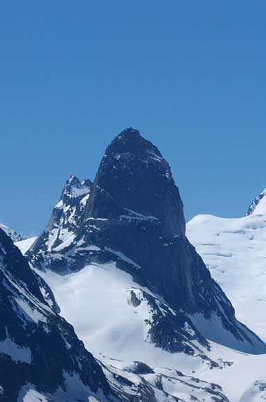The impressive Bugaboo Spire is a major climb
