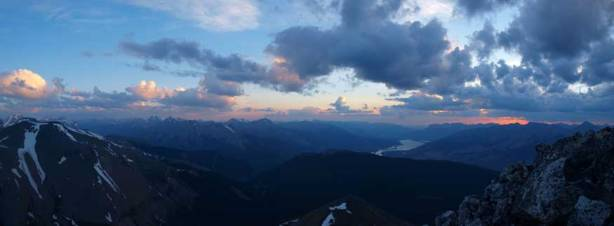Panorama towards Jasper Lake