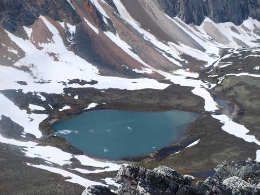 One of the alpine tarns