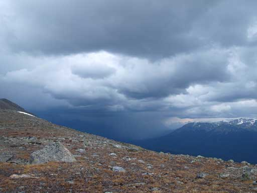 Stormy weather over Jasper townsite