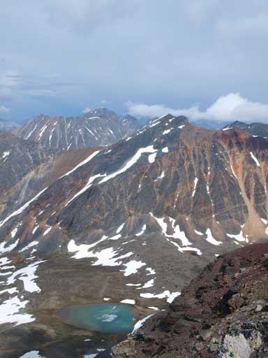 Looking back towards Mount Kerr