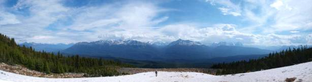 Panorama of Miette River Valley