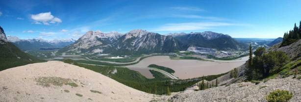 Panorama of Bow Valley. Oh look at the colour of Lac des Arcs...