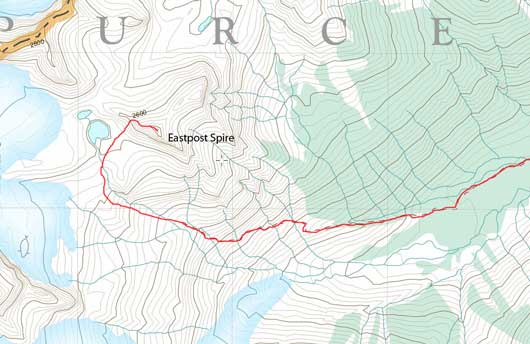 Eastpost Spire scramble route