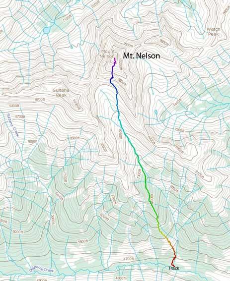 Mt. Nelson standard scramble route