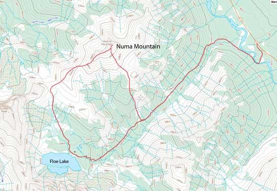 Numa Mountain scramble loop