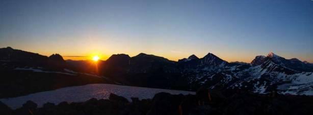 Panorama of sunrise