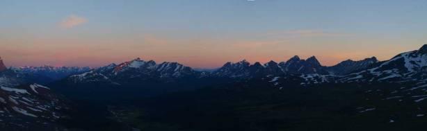 Panorama looking northwest