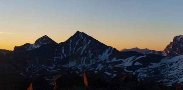 Franchere Peak and Chak Peak