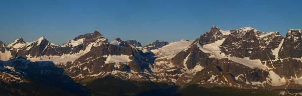 Mount Erebus on left; Mount Fraser on right