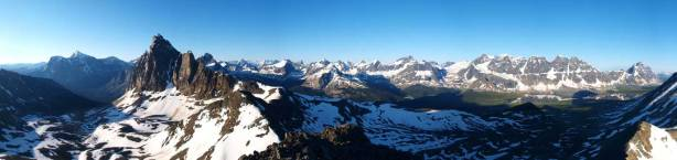 Another summit panorama, using a different setting on my camera.