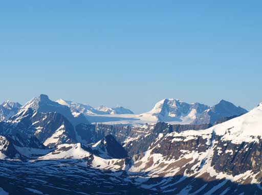 Looking deeply south into Hooker Icefield