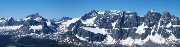 Erebus on left; Fraser at center. The Ramparts on right