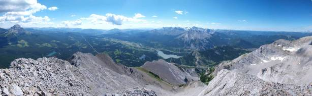 Panorama of Crowsnest Pass area