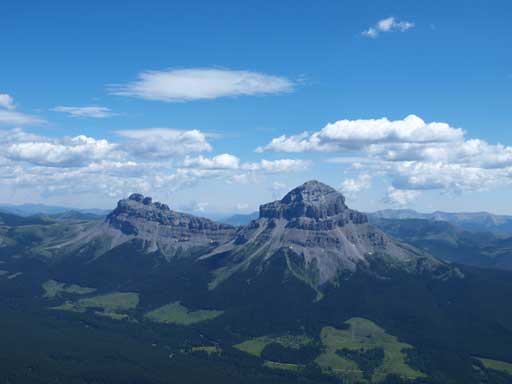 Seven Sisters and Crowsnest Mountain