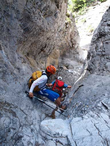 We found some interesting scrambling in the lower canyon