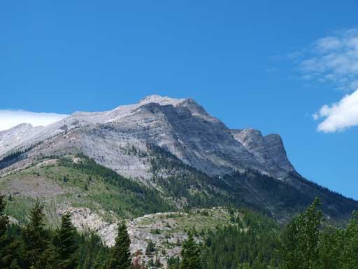 Looking back towards Mount Tecumseh