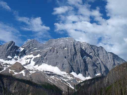 We were aiming at this impressive peak. Floe Peak.