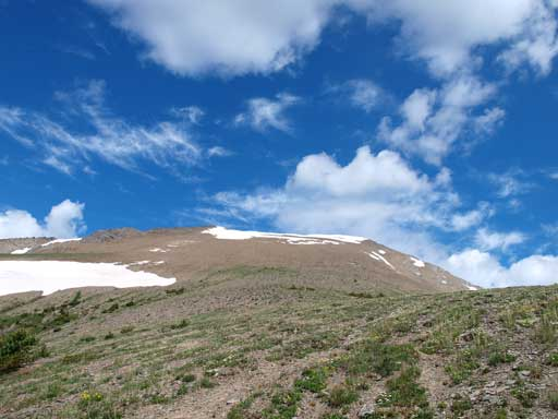 The very foreshortened slope on the alpine.