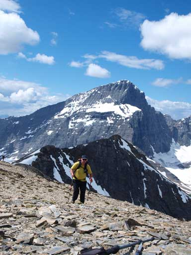 Kevin Papke approaching the summit