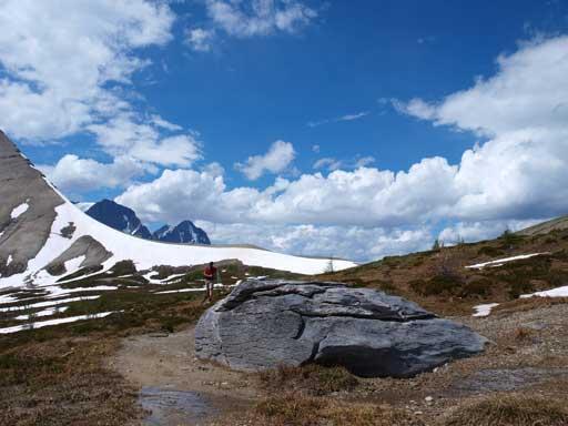 Looking back towards Numa Pass