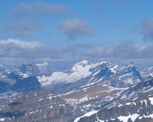 Cirrus Mountain is another big scramble on the Icefield Parkway