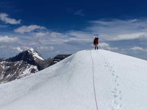 Me on the true summit. Photo by Kevin Barton