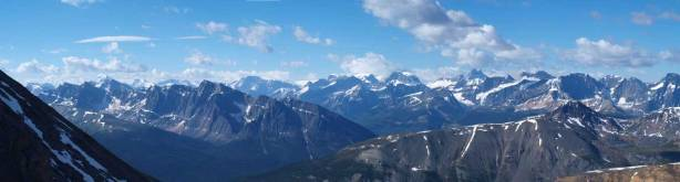 Looking towards peaks on Columbia Icefield