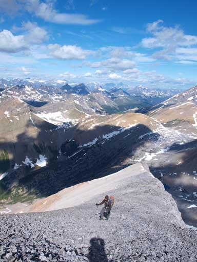 Kevin on the summit ridge