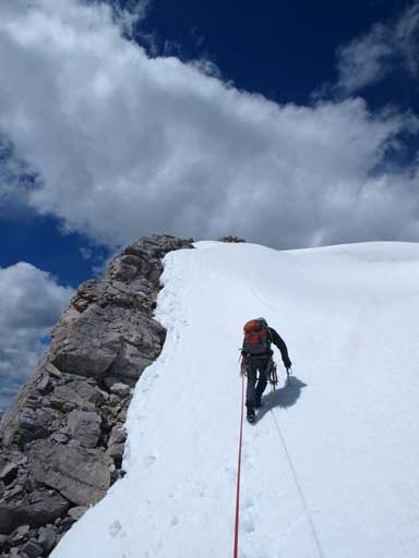 Going up the false summit