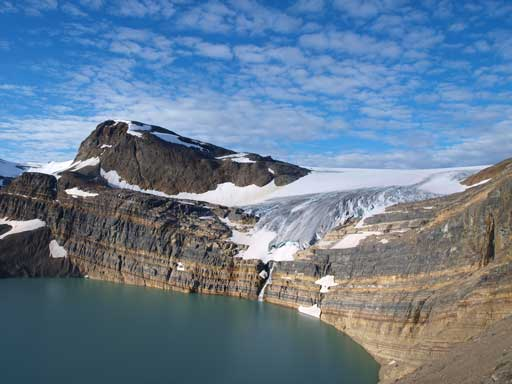 Bow Glacier and Iceberg Lake