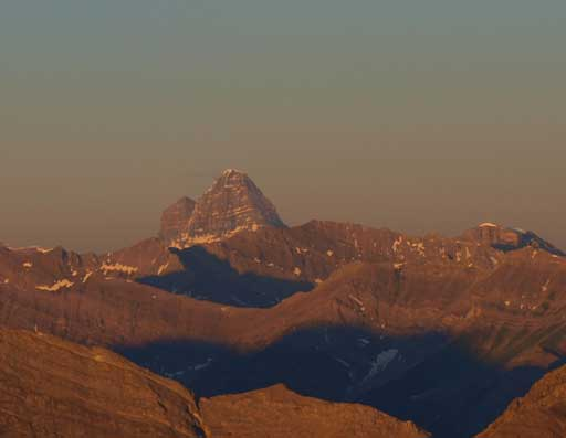 Mount Assiniboine at golden glow