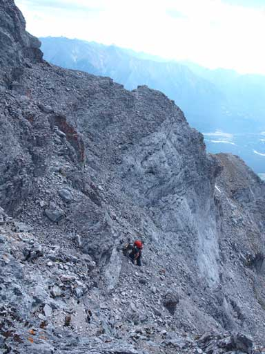 Very typical terrain on the upper gully