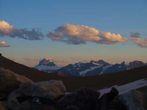 Still in my bivy sack, looking back towards Alberta