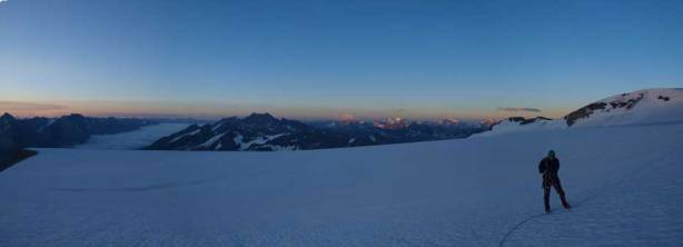 A panorama from the icefield