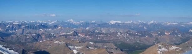 A sea of peaks