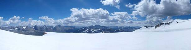 Panorama of front range peaks from the icefield