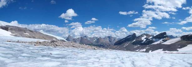 Panorama from the lower glacial tongue