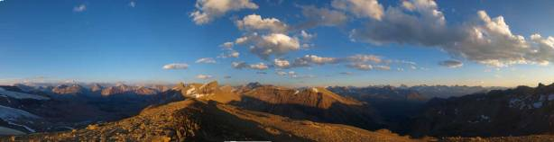 Panorama from the unnamed highpoint