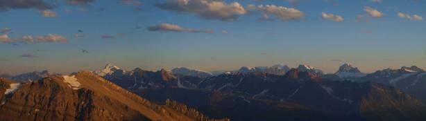Sunwapta Peak on left, Mt. Alberta on right