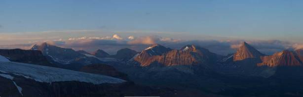 Panorama of the unnamed front range peaks