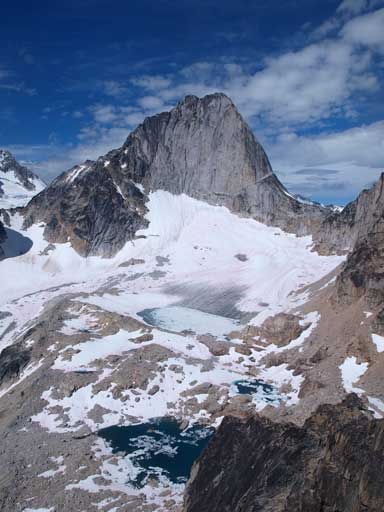 Bugaboo Spire and a few alpine tarns