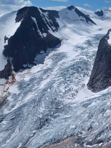 The fractured Bugaboo Glacier