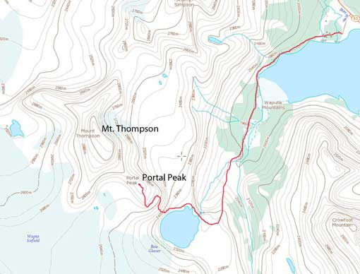 Portal Peak scramble route