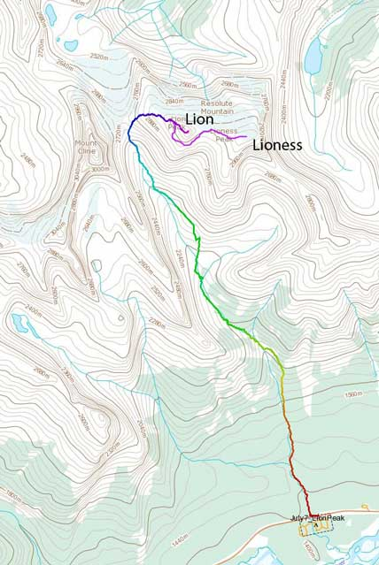 Resolute Mountain ascent route