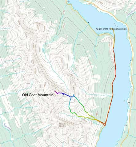 Old Goat Mountain standard ascent route