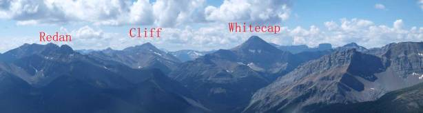 Cliff Mountain and Whitecap Mountain.