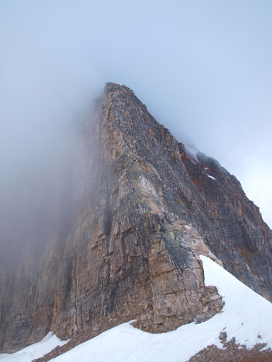 Looking ahead to the second crux. The top 2/3 of this photo is a single pitch of 5.3 climb.