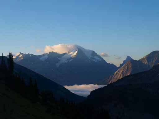 There was inversion clouds in Kicking Horse Valley