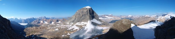 """Panorama view from near this """"crux"""""""